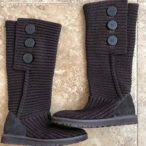 UGG brown button boots *NWOT